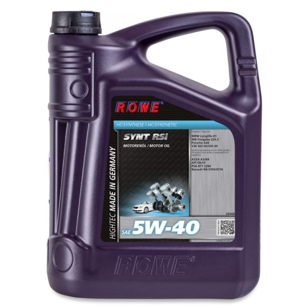 Rowe Hightec Synt RS Sae 5w-40i 5л